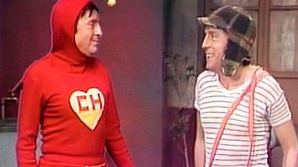 El Chapulín Colorado y el Chavo del Ocho coincidieron en un capítulo de Chespirito. (Foto: Televisa)
