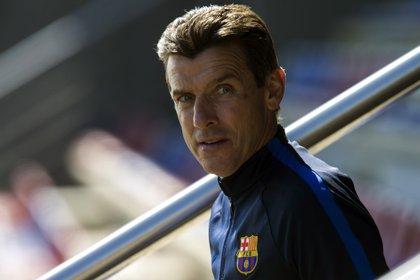 Unzué había sido DT principal del Celta y Girona en los últimos años, pero previamente acompañó a Rijkaard, Guardiola y Luis Enrique (Foto: EFE)