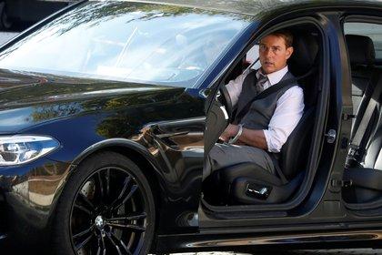"Tom Cruise  en el set de ""Mission Impossible 7"" en Roma, Italia.. REUTERS/Yara Nardi"