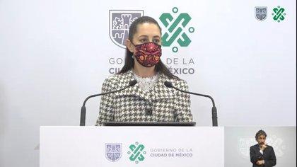 Claudia Sheinbaum, jefa de Gobierno de la Ciudad de México Foto: Captura de Pantalla