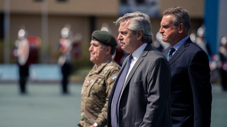 El Presidente durante la ceremonia