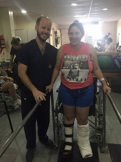 Lucrecia, durante su recuperación.