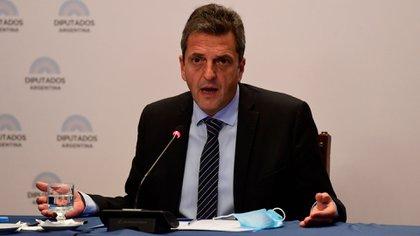 El líder del Frente Renovador y presidente de la Cámara de Diputados, Sergio Massa (Maximiliano Luna)