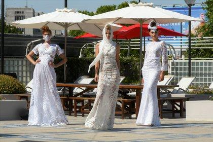 Les créations de mariée ne manquaient pas dans la collection de Patricia Profumo à ce retour