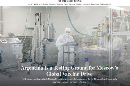 Según The Wall Street Journal, solo el 39% de los argentinos tiene algún grado de confianza en la vacuna Sputnik V
