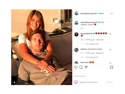El mensaje de Anto a Messi por el día de San Valentín