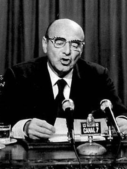 Celestino Rodrigo, el 4 de junio de 1975