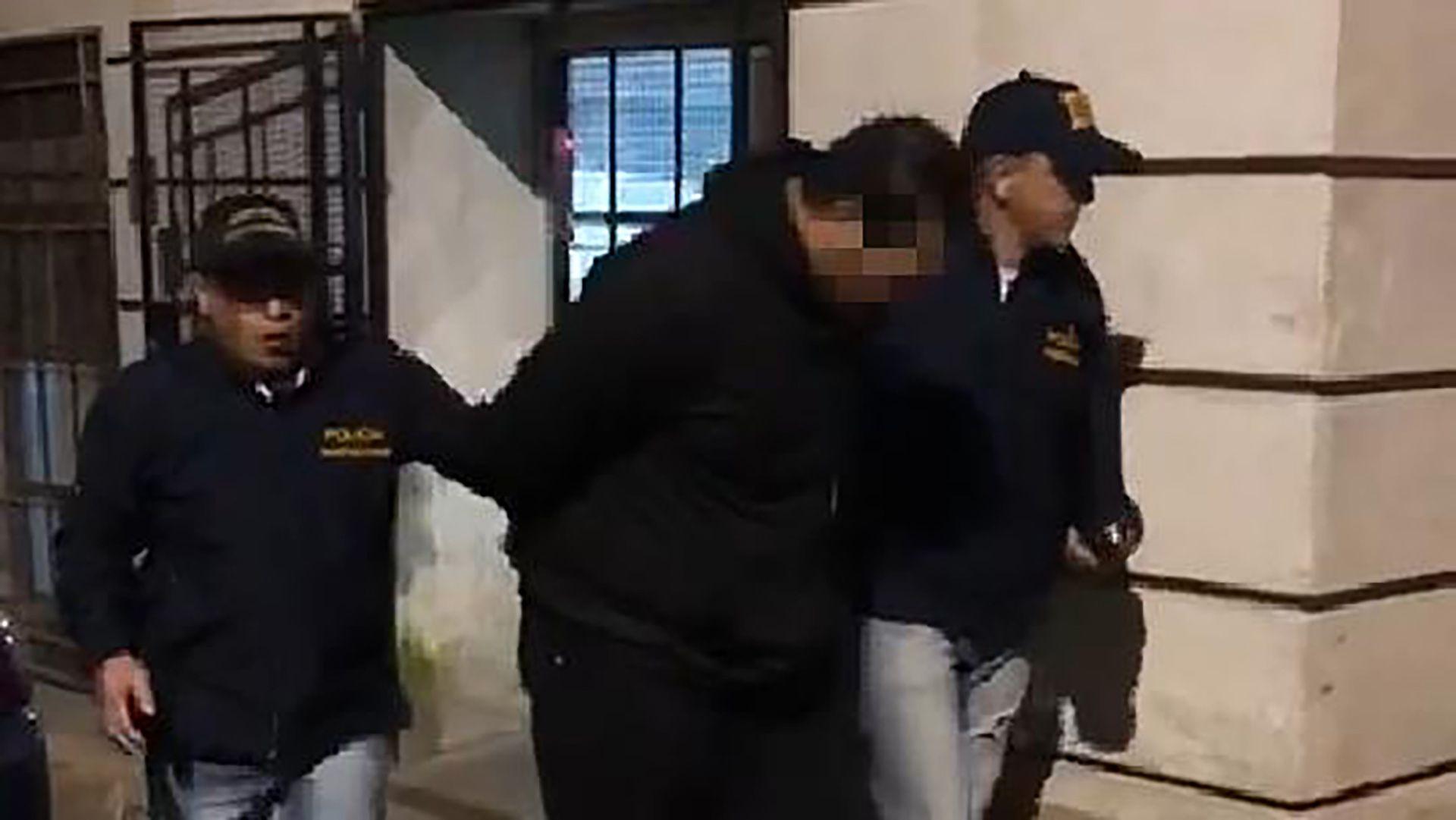 El momento de la detención de González Zablocki