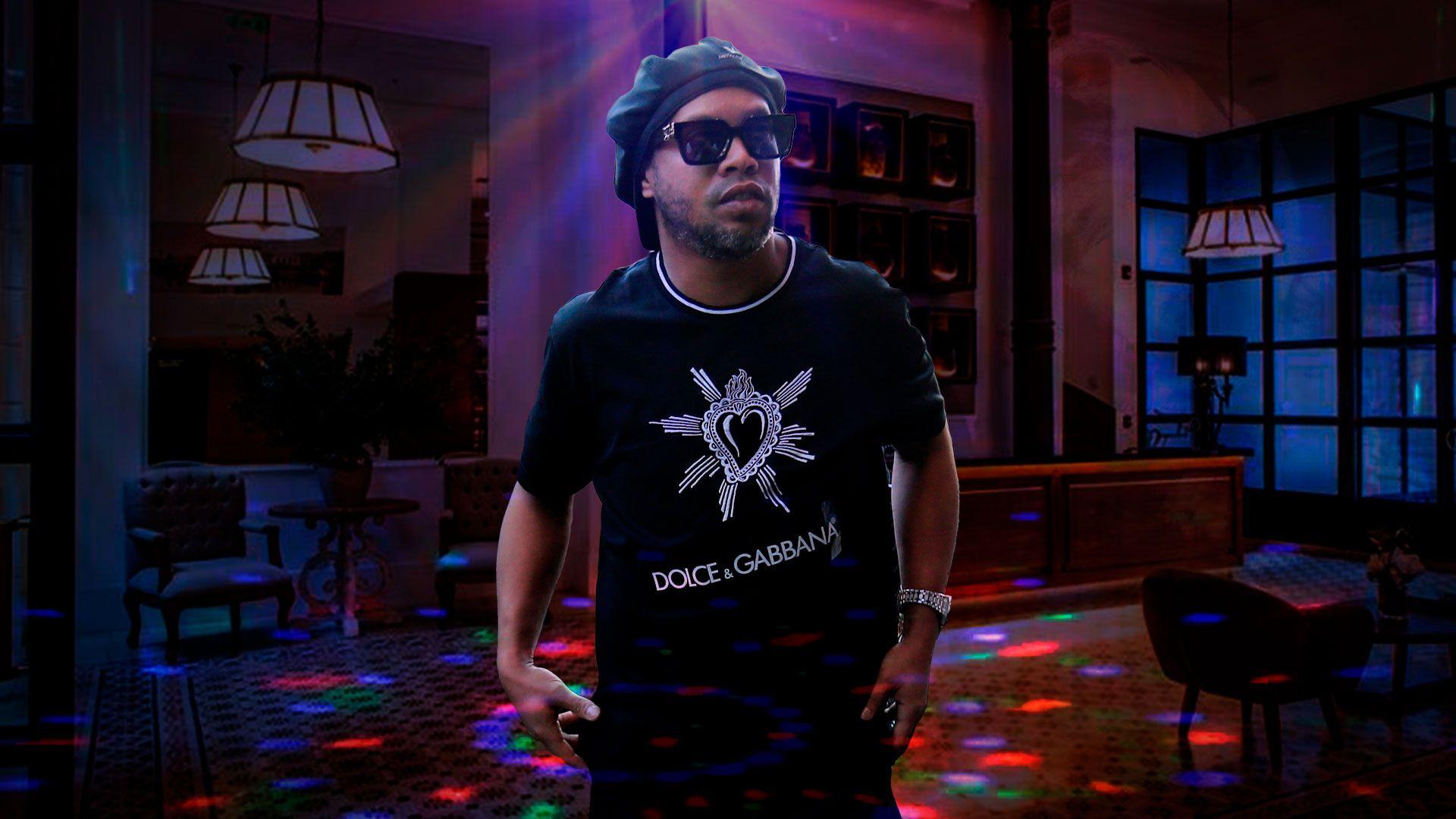 Ronaldinho fiesta hotel prision domiciliaria