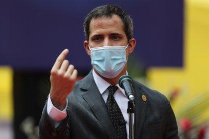 """Juan Guaidó le pidió a la UE que fije los """"mínimos"""" que considera necesarios para la celebración de las elecciones en Venezuela (EFE)"""