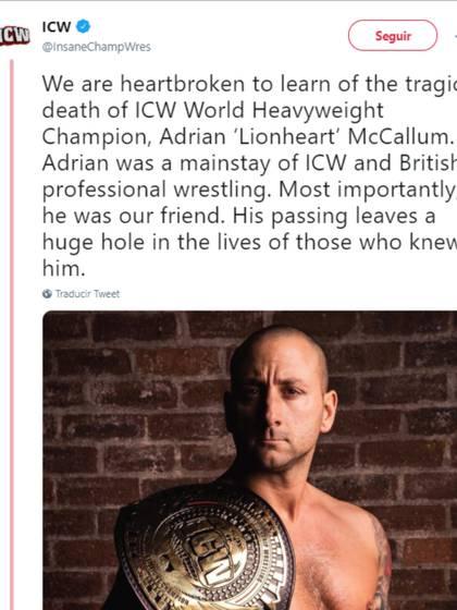 Así se despidió del luchador su última empresa (Foto: Captura de pantalla de Twitter)