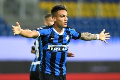 Inter quiere retener a Lautaro Martínez. Le ofrecerá un nuevo contrato (REUTERS/Jennifer Lorenzini)