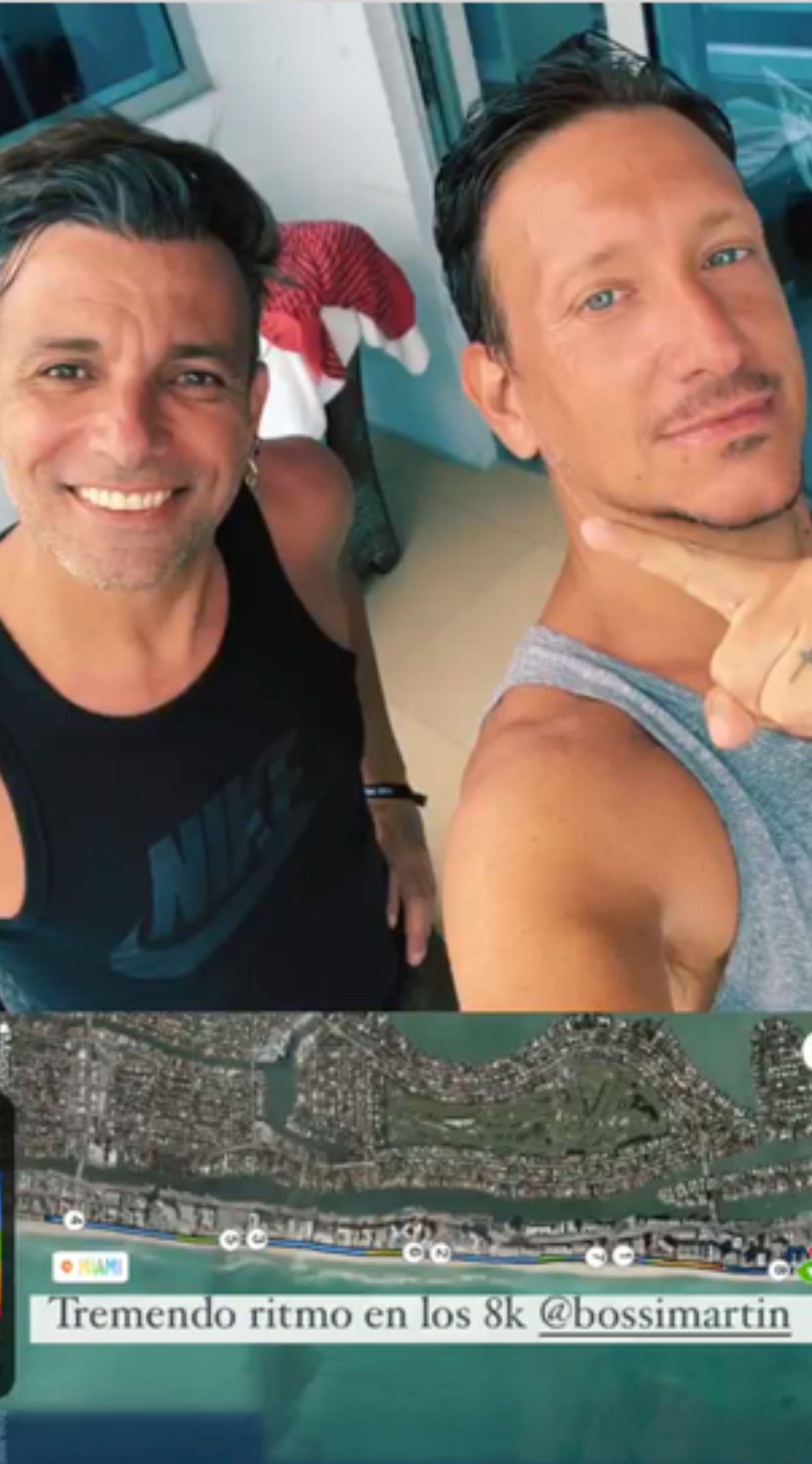 Nico Vázquez y Martín Bossi en Miami