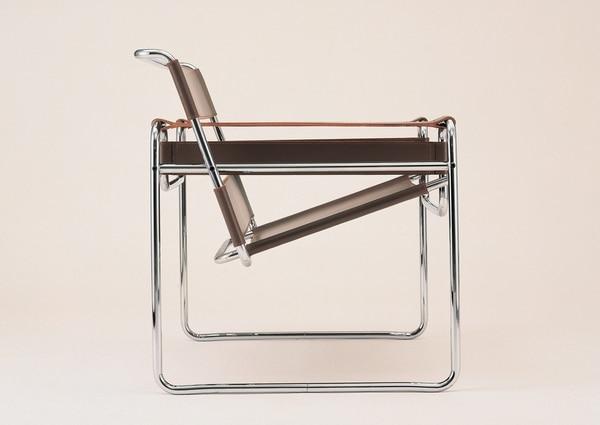 La silla B3, conocida como Wasilly, diseñada por Marcel Breuer en 1926