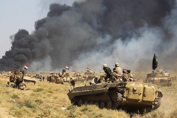 Tropas iraquíes avanzando sobre Hawija a fines del año pasado(AFP)