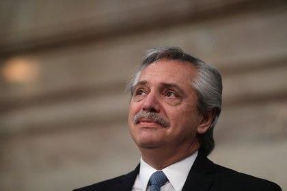 Imagen de archivo del presidente de Argentina, Alberto Fernández, durante una sesión en el Congreso Nacional, en Buenas Aires, Marzo 1, 2020. REUTERS/Agustín Marcarián