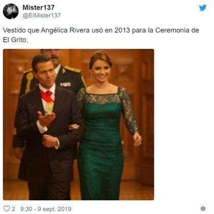 Angélica Rivera en el 2013 (Foto: Twitter)
