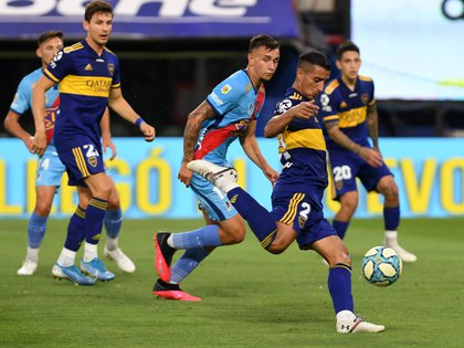 Diego Pulpo González fue el autor del gol de Boca (FotoBaires)