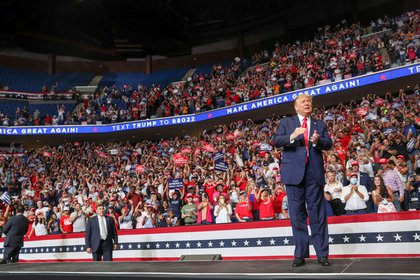 EL 20 d ejunio pasado, Trump hizo su último mitín de campaña en un estadio, en Tulsa