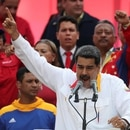 Venezuela's President Nicolas Maduro talks during a rally in support of the government in Caracas, Venezuela May 20, 2019. REUTERS/Ivan Alvarado