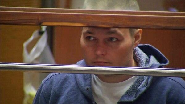 Joshua James Corbett durante el juicio por el acoso a la estrella