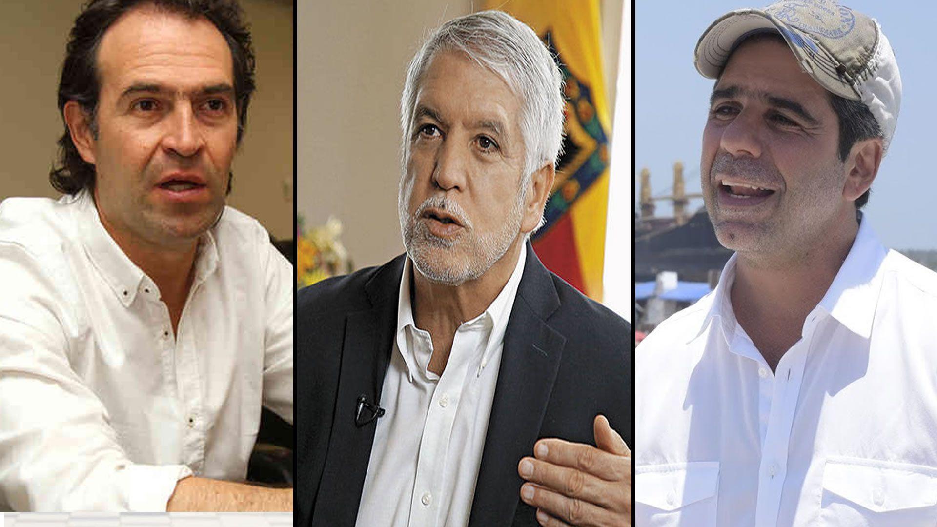 Exalcaldes Federico Gutiérrez, Enrique Peñalosa y Alejandro Char.