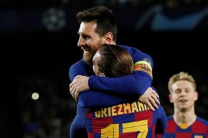 Messi y Griezmann conectaron en la victoria ante el Borussia Dortmund por Champions League -  REUTERS/Albert Gea