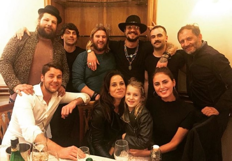 Daniel Osvaldo and Silvina Luna shared the dinner with their mutual friends (Instagram)