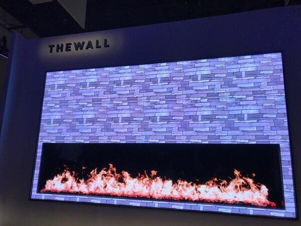 El televisor modular de Samsung de 146 pulgadas que se presentó antes del inicio de la feria CES.