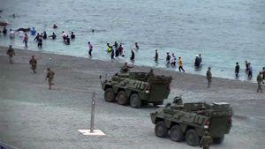 España despliega los tanques del Ejército tras la entrada de más de 6 mil migrantes en Ceuta: al menos un muerto
