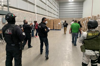 El inmueble, ubicado en el conjunto industrial Tultipark II, fue asegurado por las autoridades mientras continúa la investigación para encontrar a las personas relacionadas con el robo (Foto: Twitter@FiscalEdomex)