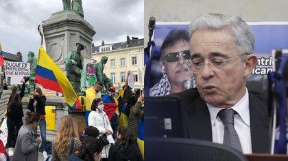 """""""En Europa distorsionan la democracia colombiana"""": Uribe sobre masivas marchas en el exterior"""