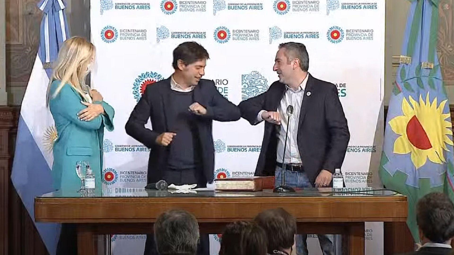"Jura de Andrés ""Cuervo"" Larroque como ministro de Desarrollo de la Comunidad bonaerense"