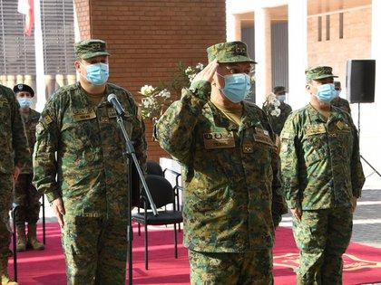 Oficiales militares del Ejército de Chile. (Europa Press)