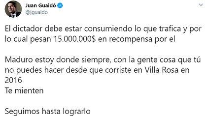 El tuit de Guaidó