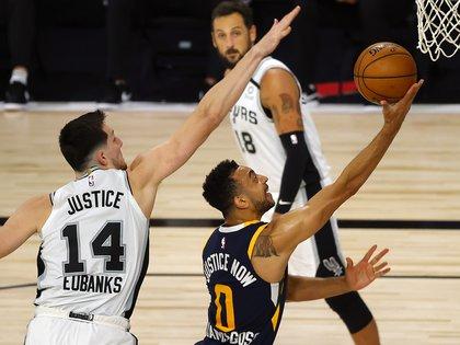 San Antonio Spurs cerró su participación en el torneo con una derrota ante Utah Jazz (Credit: Kevin C. Cox/Pool Photo-USA TODAY Sport)