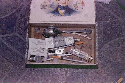 Parte de lo que la policía encontró en la casa de Cobain (Departamento de Policía de Seattle)