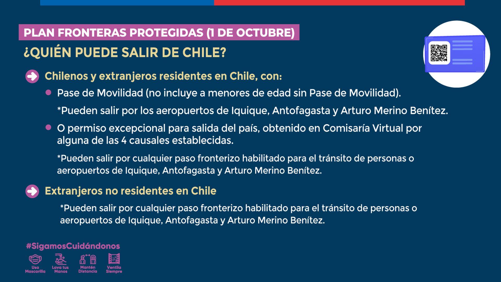 Chile abre las fronteras
