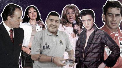Carlos Menem, Gilda, Diego Mardona, Aretha Franklin, Elvis, Ayrton Senna