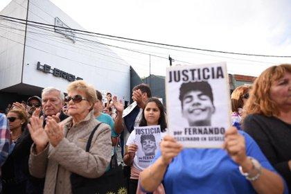 Marcha ocurrida a un mes de la muerta del joven en Villa Gessel (Diego Medina)