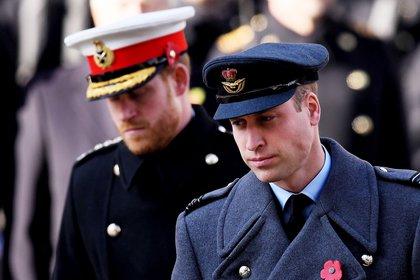 El príncipe Guillermo y el príncipe Harry en un evento de 2019 (James Veysey/Shutterstock)