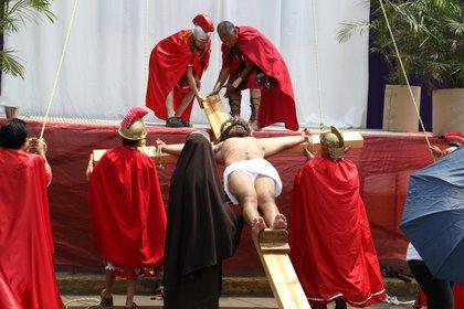 Este año se llegará a la representación 177 de la Pasión de Cristo en Iztapalapa (Foto: Saúl López/ Cuartoscuro)