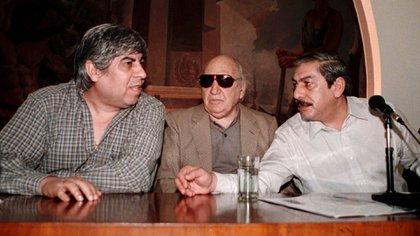 Hugo Moyano, Lorenzo Miguel y Rodolfo Daer