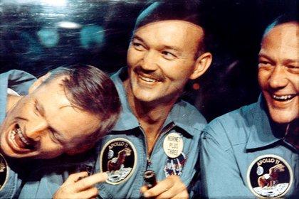 Incluyendo la misión Apolo 11, Michael Collins registró 266 horas en el espacio, dijo la NASA (REUTERS)