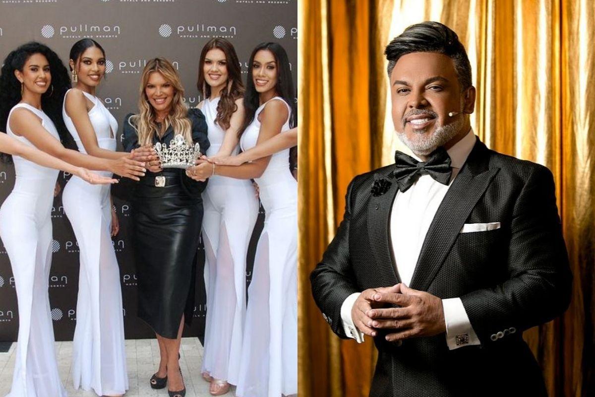 El conductor de Panamerica TV quedó deslumbrado con la belleza de las modelos.