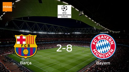 Bayern Munchen Pasa Por Encima A Barcelona Y Se Hace Con La Plaza De Semifinales 8 2 Infobae