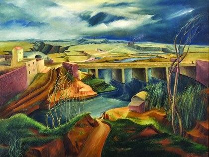 "Rosalía Soneira, ""Paisaje"", 1942, óleo sobre tela, 73 x 92 cm. Colección Museo Nacional de Bellas Artes"