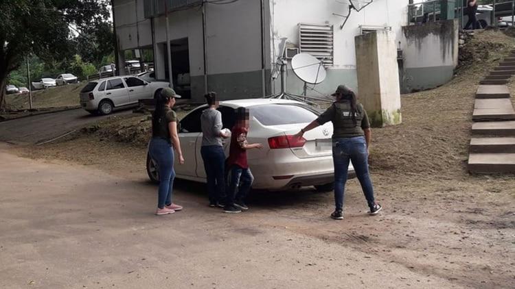 Las víctimas fueron llevadas a Mar del Plata, de donde es oriunda la mujer (Prensa Gendarmería)