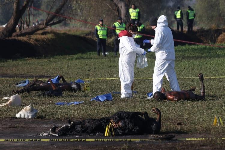 Autoridades deben identificar los cuerpos calcinados (Foto: Moisés Pablo /Cuartoscuro)