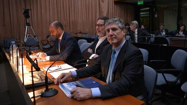 Amado Boudou en una de las audiencias del juicio Ciccone (Gustavo Gavotti)